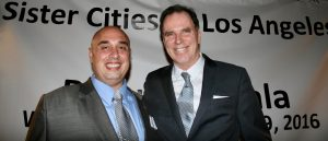 Sister Cities International Southern California Chapter President Anthony Al-Jamie with SCOLA Chairman Tom Gilmore