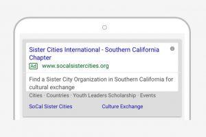 Google Ad Grants Award – SOCAL Sister Cities